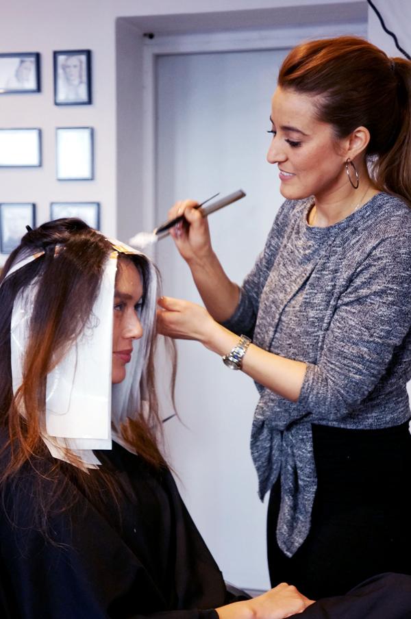 at lave striber i håret, lysestriber, ofia frisør striber, lyse striber københavn, lyse striber frederiksberg frisør