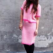 to delt sæt,nederdel og bluse sæt, asos sæt, asos two piece, ASOS Spot Knit Skirt, ASOS Spot Knit Skirt