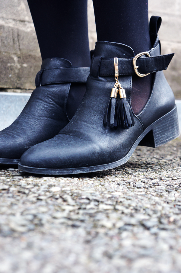 river island sko, cut out boots, sorte ankelstøvler river island, river island boots