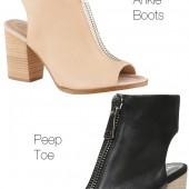 GALAOWEN, aldo GALAOWEN, peep toe booties, ankle boots, ankelstøvler, nude boots, black leather boots, aldo boots, aldo sko, aldo støvler, aldo booties, Ankle bootie with zipper,