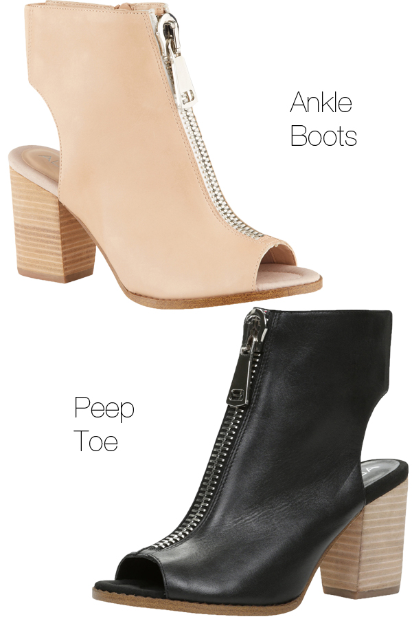 GALAOWEN, aldo GALAOWEN, peep toe booties, ankle boots, ankelstøvler, nude boots, black leather boots, aldo boots, aldo sko, aldo støvler, aldo booties, Ankle bootie with zipper,
