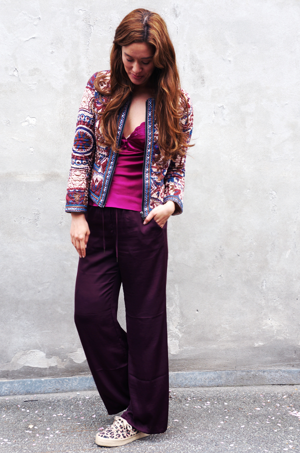 hm consious silk pants, hm consious bukser 2014, sommer bukser, silkebukser, silk pants, hm bukser, keds outfit, boho chic outfit