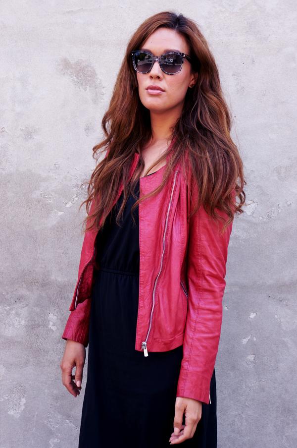 dolce & gabbana solbriller, dolce & gabbana sunglasses, dolce & gabbana briller, rød jofama læderjakker, leather jacket jofama