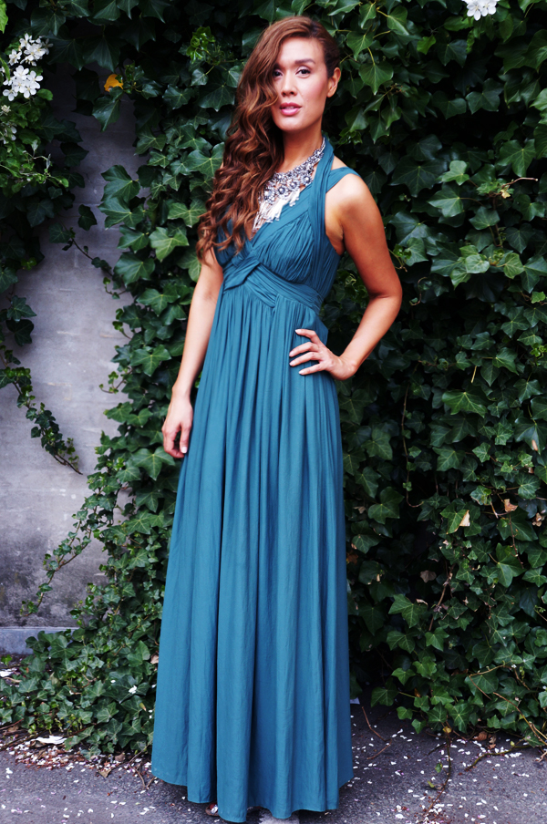 maxikjole, zara grøn maxikjole, zara maxi dress, gallakjole, gala dress