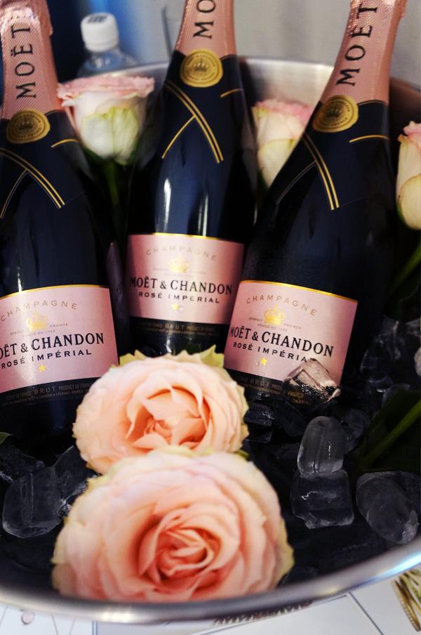 lyserød moet, pink moet, champange