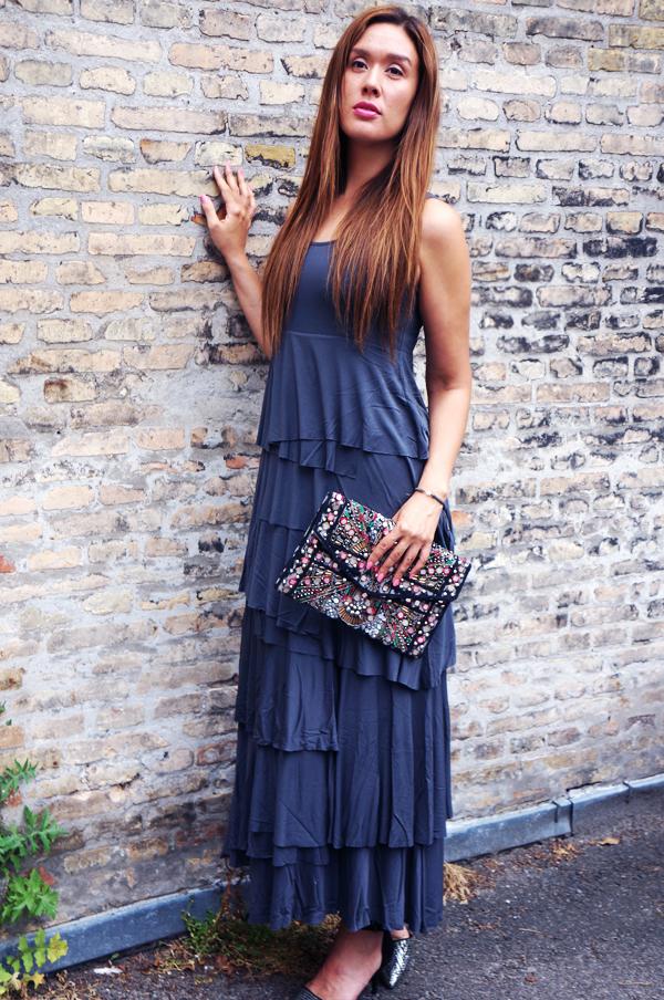 lag på lag maxi kjole, maxidress grey, mørksegrå maxikjole, xo container ss14