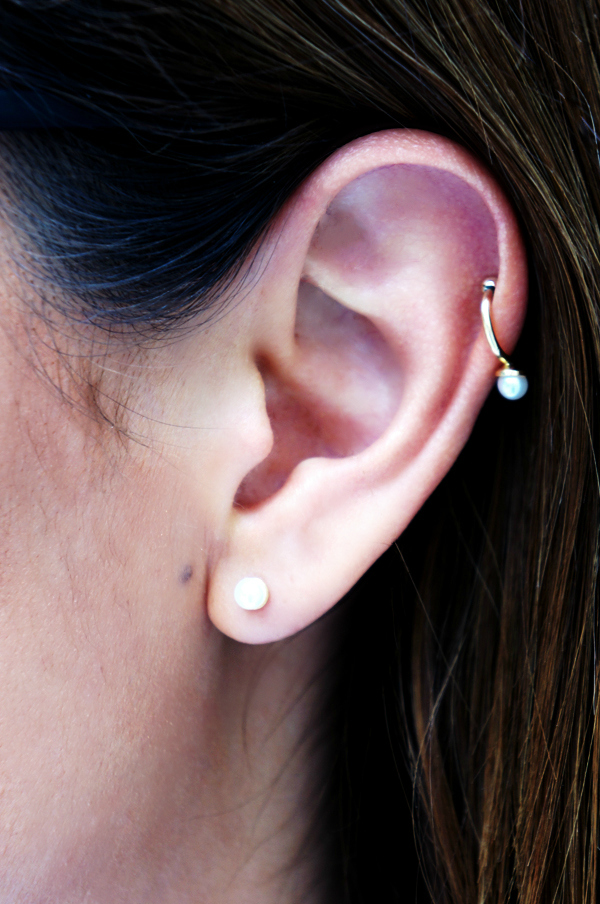 asos pearl earring, asos perle øreringe