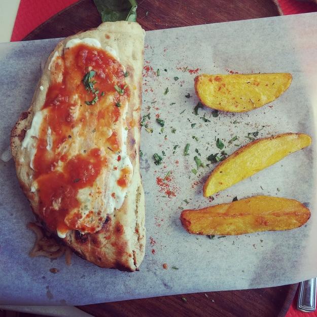 gyros, græsk mad, santorini restaurant santorini
