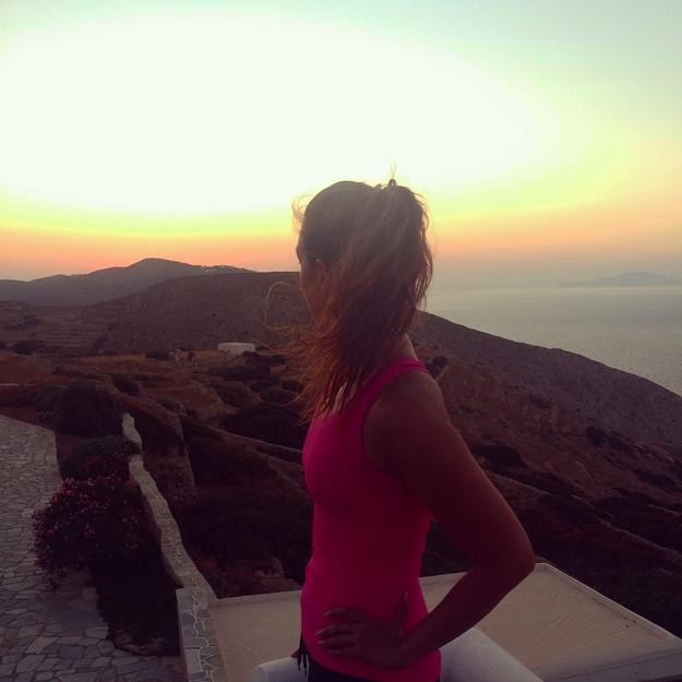 evening run greece, løb træning