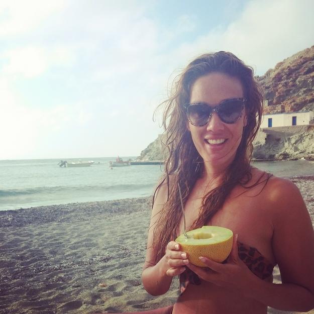 folegrandros beach, grækenland folegrandos, melon snack, stand 2014, island hopping greece
