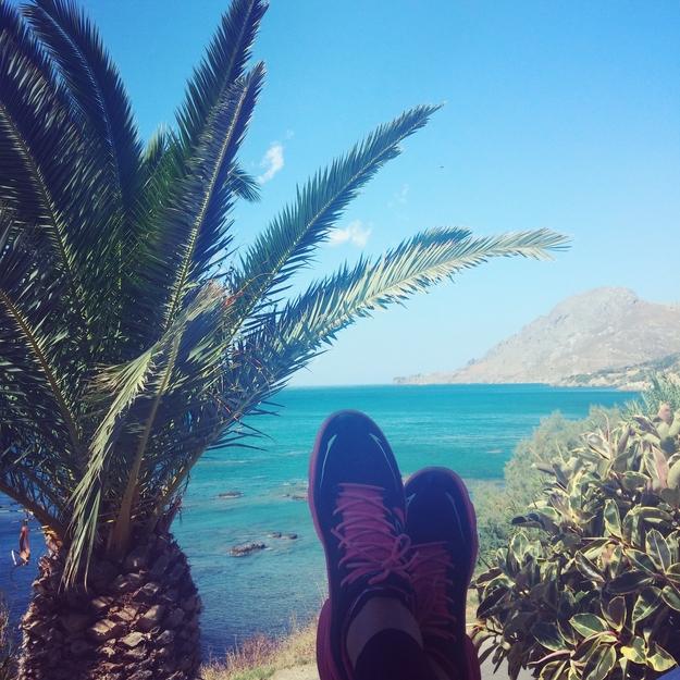 plakias, ecco biom, running in Greece, løb grækenland