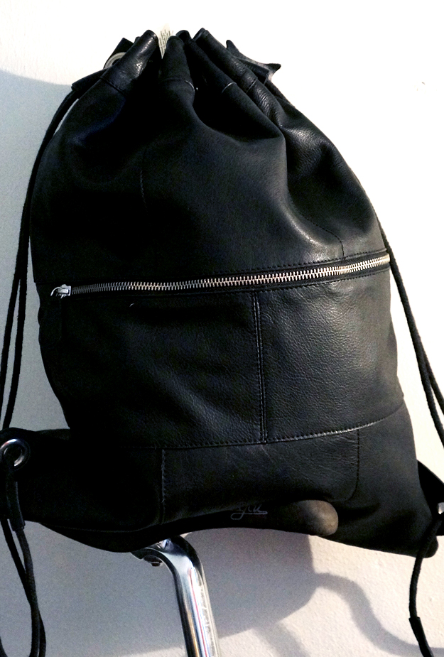 leather gym bag, læder gymnastiktaske, pieces lædertaske