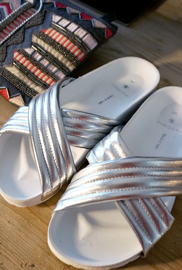 silver sandals, sølv sandaler, pieces sølvsko
