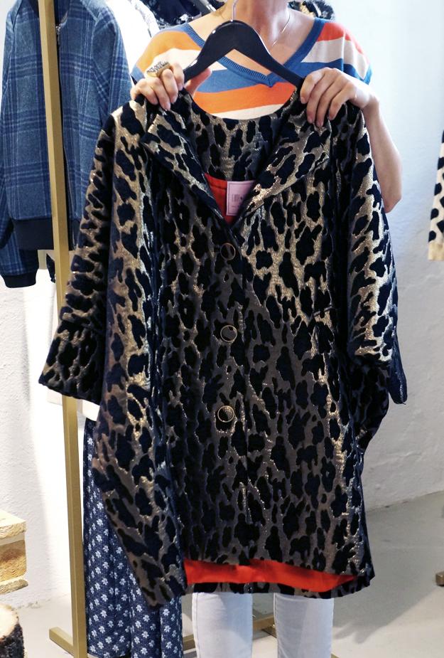edith ella leopard jakke, leopard frakke, edith ellea guld leopard frakke