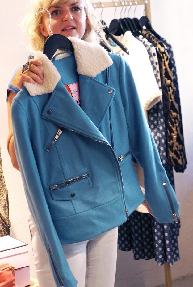 blå biker jakke, edith ella jakke