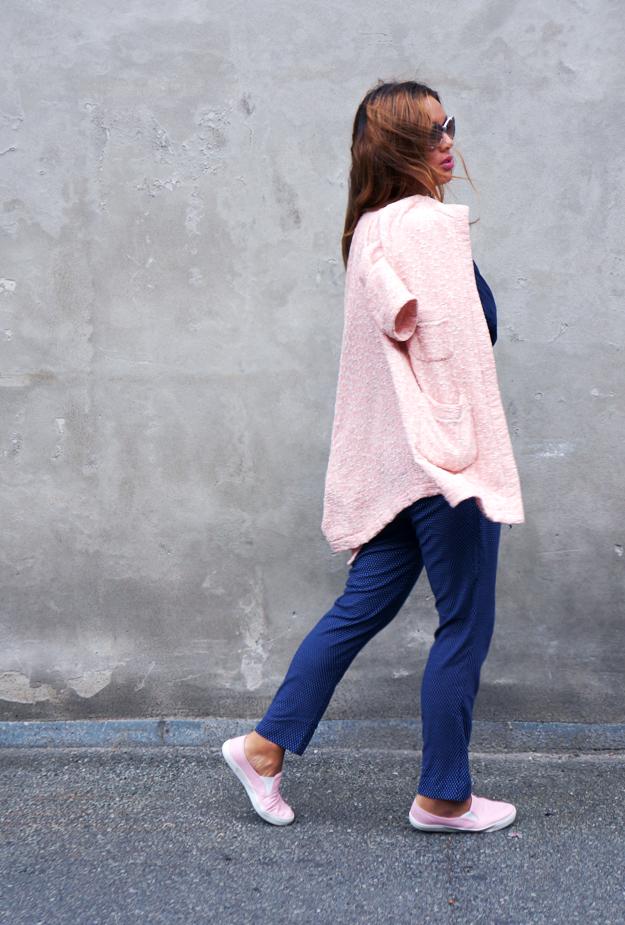 lyserød jakke zara, pink coat zara, blogger outfit