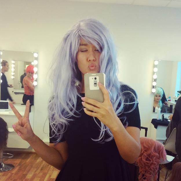 lilla hår , paryk