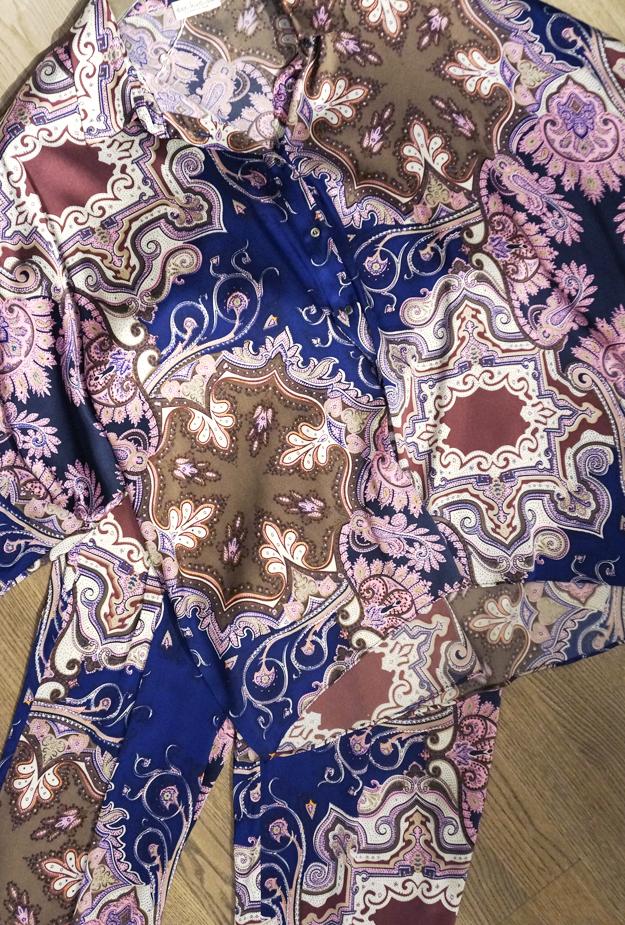 paisley print, kudibal, paisley print sæt, paisley print bukser og skjorte, paisley print set