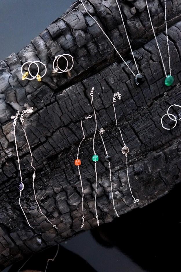 sølvsmykker, ægtesten smykker