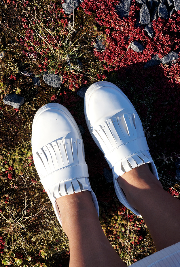 ASOS DARIELLE Fringed Plimsolls, look alike Celine SKATE FRINGE SLIP-ON