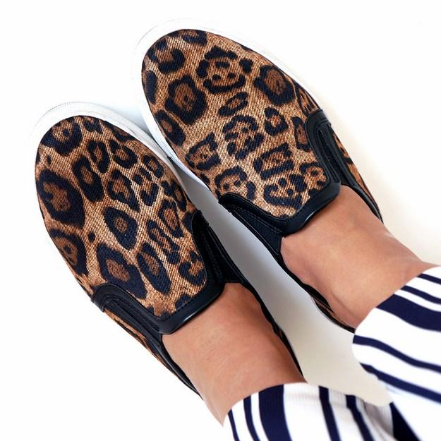 Slip-on sneakers, leopard plimsolls, ellos fashion, ellos sko, ellos leopard sneakers, leopard slip ons