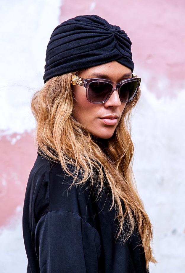 turbanhat, karen blixen turbanhat, turban hat, dolce gabbana solbriller, d&g sun glasses, turban,