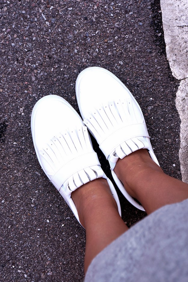 asos sneakers, celine look a like sneakers, hvide frynse sneakers