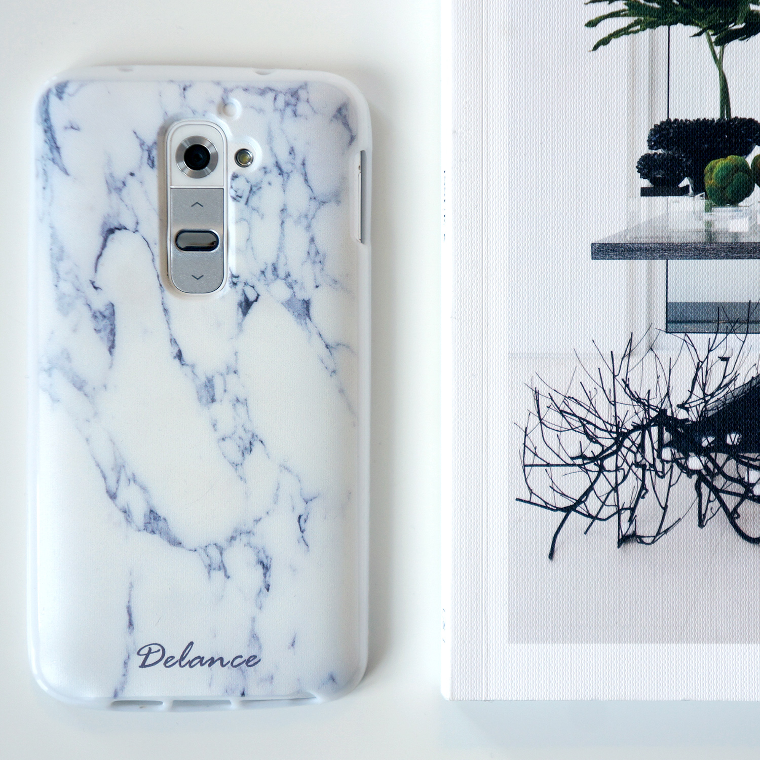 Marble print Personalized custom name Phone Case