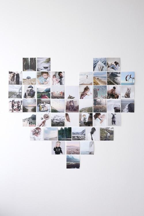 billedevæg af hjerter, hjerte væg