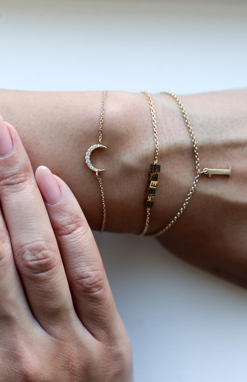befashionablecom, braceletmix, delphine pariente, petit armbånd, måne armbånd, dream armbånd, 1 tal armbånd, delikate armbånd