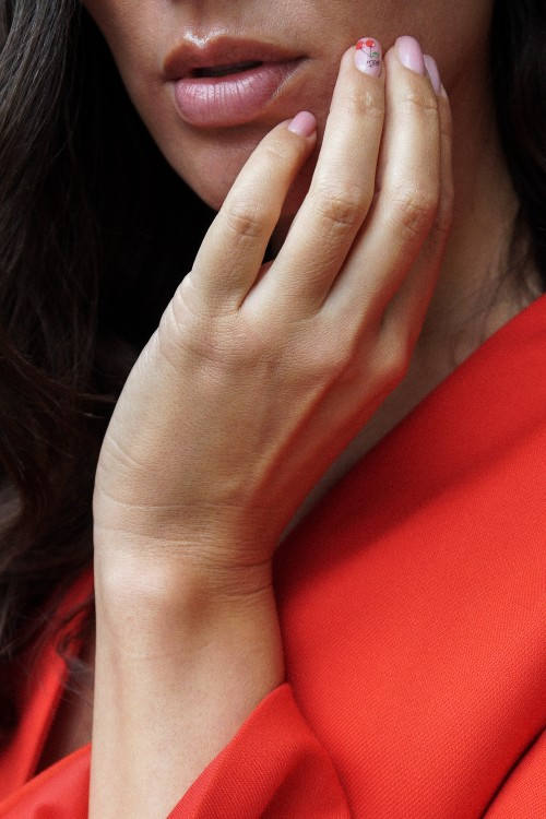 kirsebær negle, cherry nails,