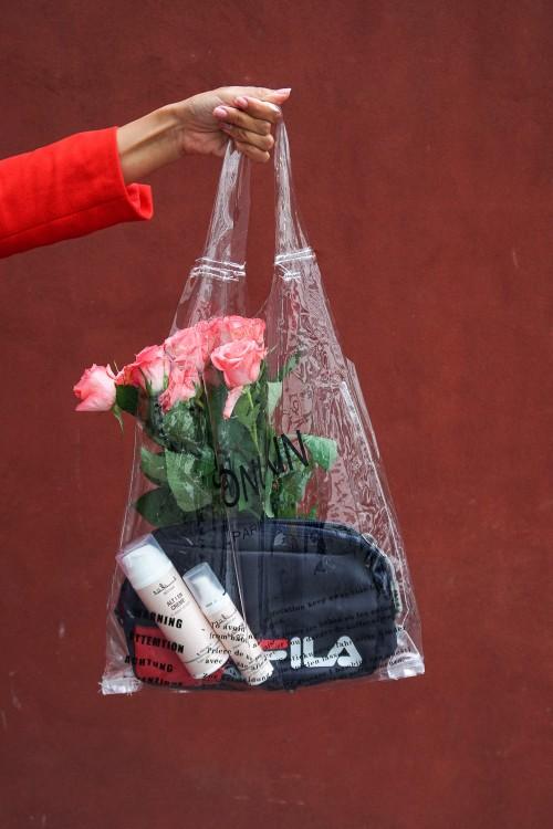 fila, fila taske, fila bum bag, fila fanny pack, fila mavetaske, gennemsigtig plastikpose, clear bag, celine clear bag, roser